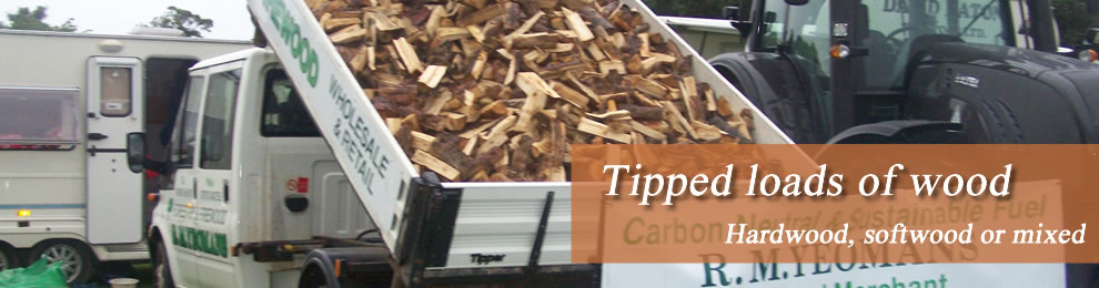 Tipped loads of wood